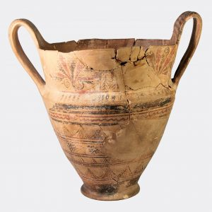 East Greek Rhodian late geometric kantharoid krater