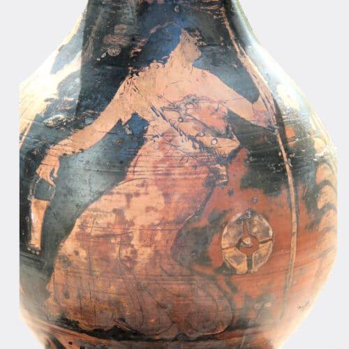 Greek Antiquities - Greek large red figure oinochoe with maenad decoration