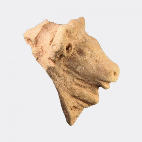 Cypriot Antiquities - Cypriot pottery bull's head, ex. Kolokasides