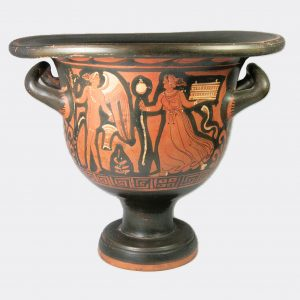 Greek Antiquities-Greek Apulian large red figure pottery bell krater