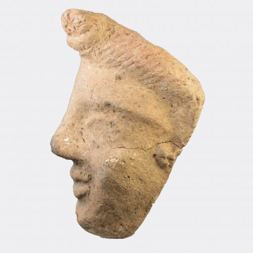 Miscellaneous Antiquities - Etruscan pottery mask of a youth