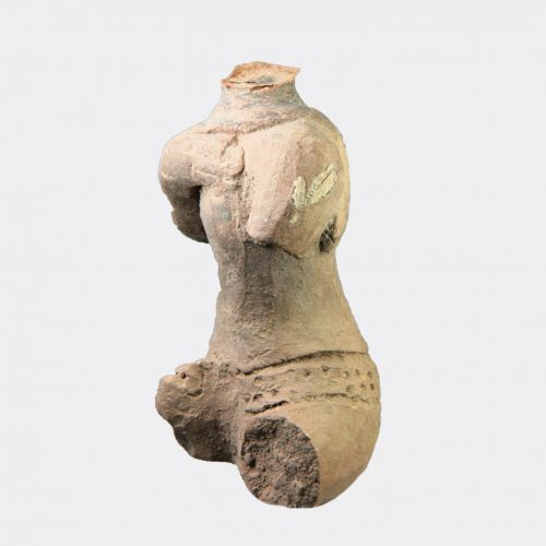 Miscellaneous Antiquities - Majapahit pottery seated figure fragment