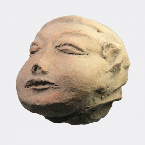 Miscellaneous Antiquities - Majapahit large hollow pottery head