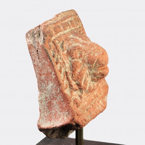 Roman Antiquities - Roman terracotta lion head fragment