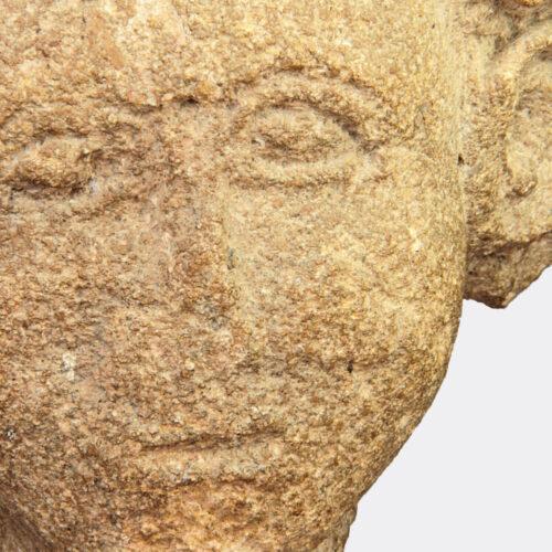 Roman Antiquities - Gaulish Roman sandstone head