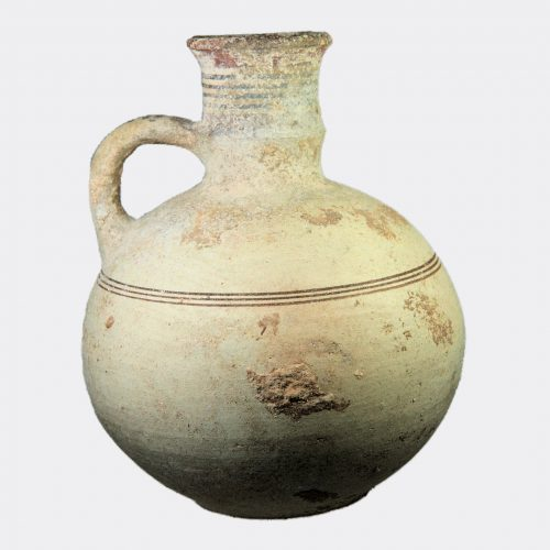 Cypriot fine Bichrome Ware jug with burnished slip surface