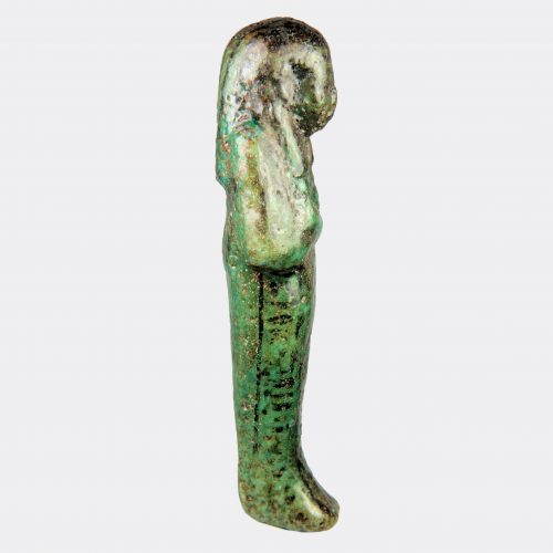 Egyptian Antiquities-Egyptian shabti of Nes-Pa-Ra, ex. museum de-accession