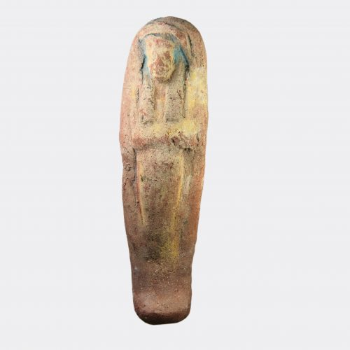 Egyptian Antiquities-Egyptian New Kingdom painted pottery shabti