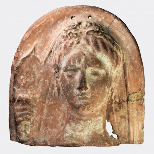 Greek Antiquities- Greek Tarentine female protome with exceptional provenance