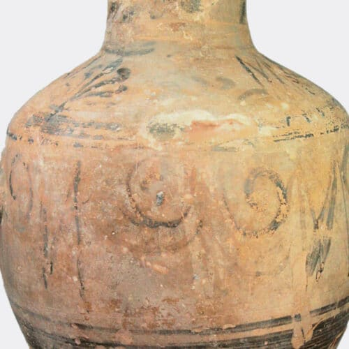 Greek Antiquities - Cretan Hadra Ware hydria with dolphin decoration