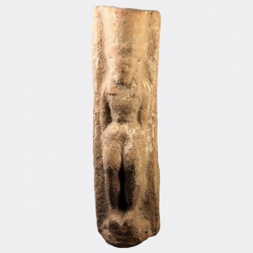 Greek Antiquities-Cretan Daedalic goddess plaque