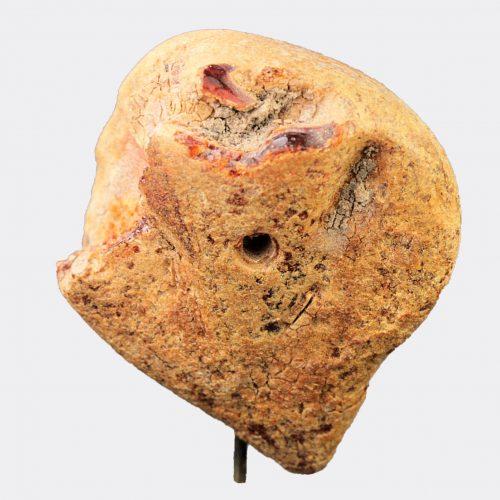 Miscellaneous Antiquities - Etruscan amber human head pendant