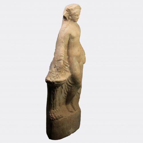 Greek Antiquities-Greek Hellenistic pottery figure of Aphrodite