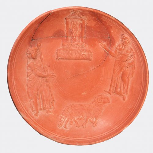 Roman Antiquities - Roman bowl depicting Jesus and the Raising of Lazarus
