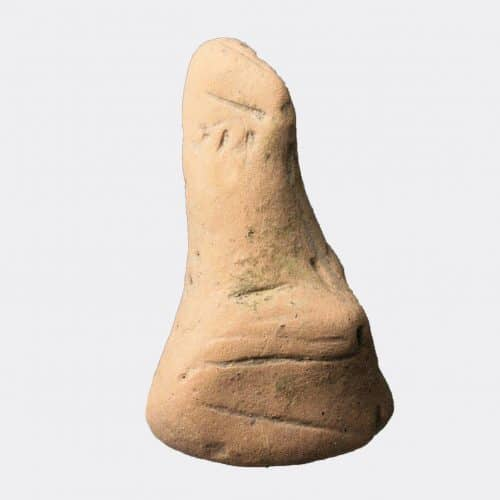 Greek Antiquities - Greek Neolithic pottery pregnant woman figurine