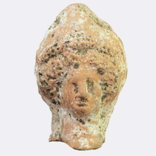 Greek Antiquities - Hellenistic pottery head