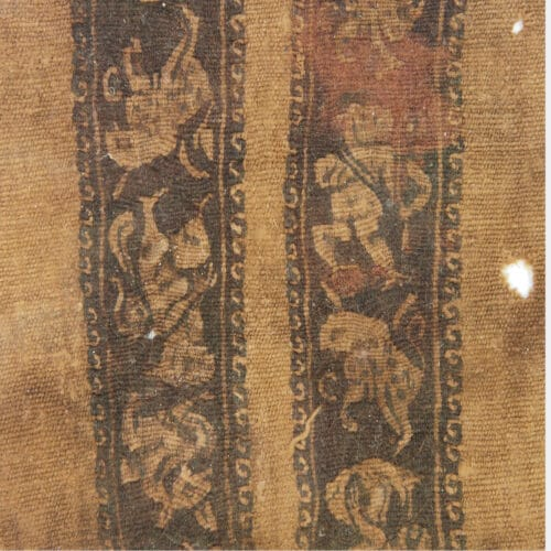 Egyptian Antiquities - Coptic textile fragment with figures and animals