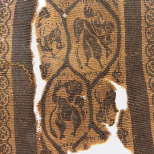 Egyptian Antiquities - Egyptian Coptic textile fragment