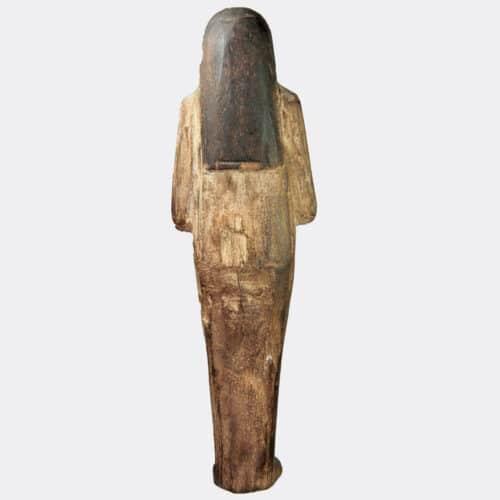 Egyptian Antiquities - Egyptian New Kingdom carved wood shabti