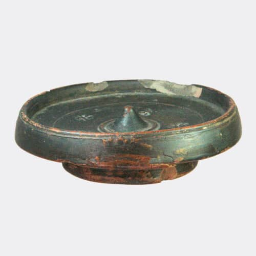Greek Antiquities - Greek pottery patera with stamped decoration