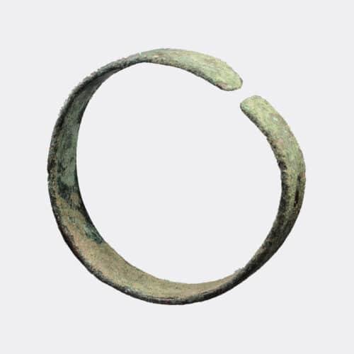 Ancient Jewellery - West Asian decorated bronze bracelet