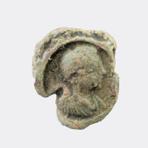 Roman Antiquities - Roman lead seal with emperor portrait