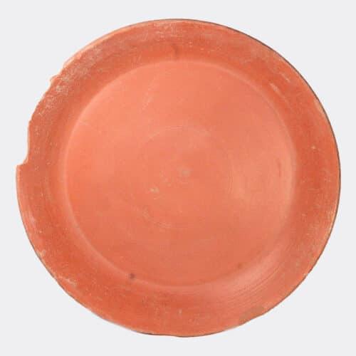 Roman Antiquities - Roman large red slip ware pottery bowl
