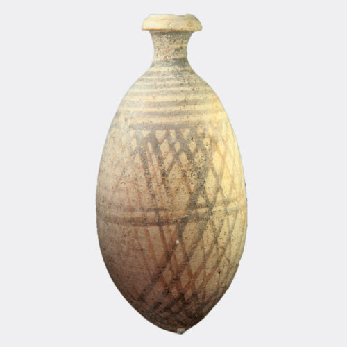 West Asian Antiquities - North Mesopotamian painted pottery flask