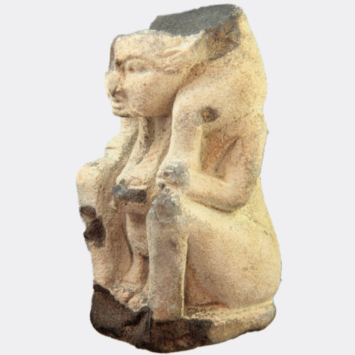 Egyptian Antiquities - Egyptian large faience figure