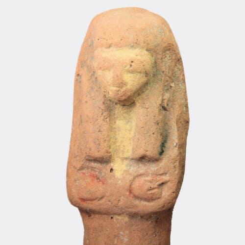 Egyptian Antiquities - Egyptian large New Kingdom pottery shabti