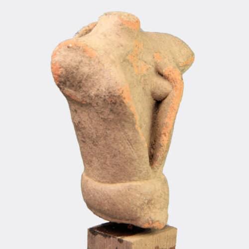 Greek Antiquities - Minoan terracotta goddess torso