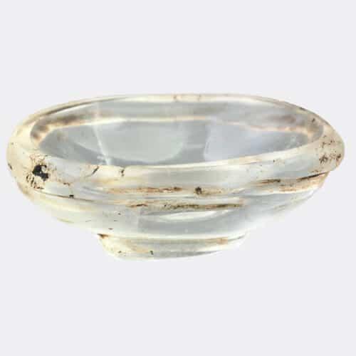 Islamic Antiquities - Abbasid or Fatimid rock crystal miniature cosmetic bowl