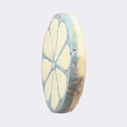 Egyptian Antiquities - Egyptian New Kingdom faience roundel inlay