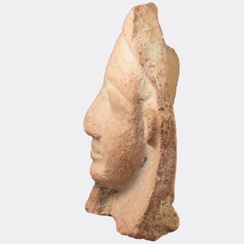 Egyptian Antiquities - Egyptian New Kingdom pottery head fragment