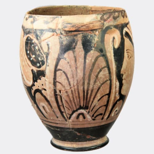 Greek Antiquities - Greek red figure pottery skyphos, probably from Syracuse