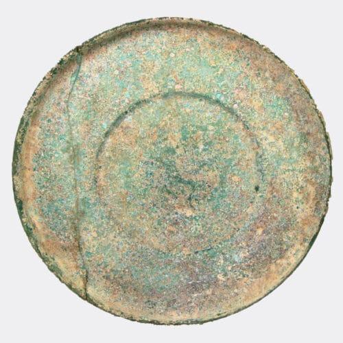 Roman Antiquities - Roman pale green glass dish