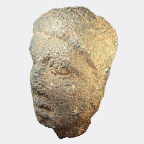 Roman Antiquities - Roman volcanic basalt head fragment