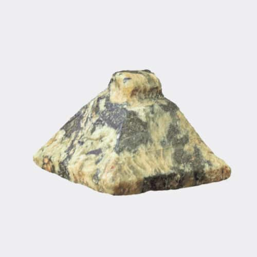 Egyptian Antiquities- Egyptian serpentine amulet in the form of a pyramidal seal