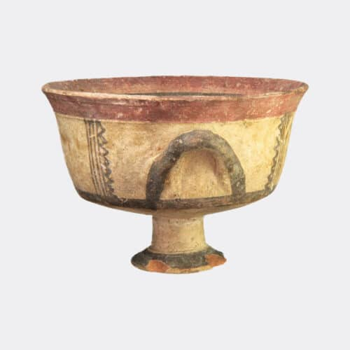 Cypriot Antiquities - Cypriot Early Iron Age painted pottery stemmed chalice