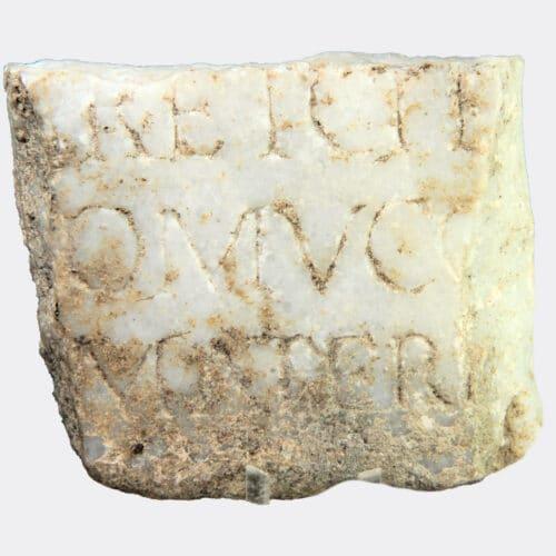 Roman Antiquities - Roman marble inscription fragment