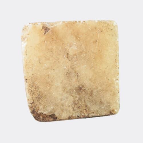 Egyptian Antiquities - Egyptian alabaster pyramidal seal amulet