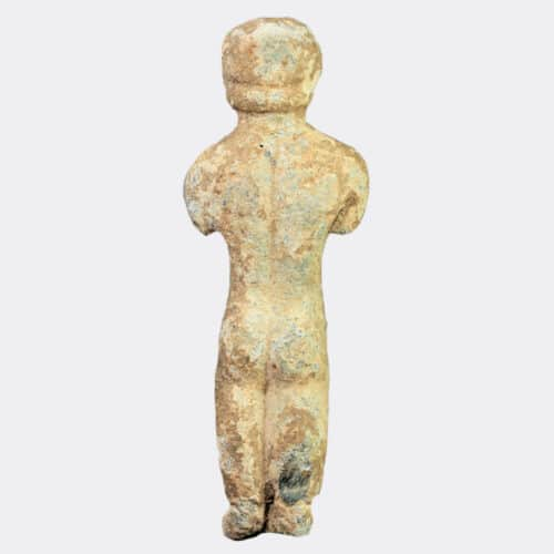 Roman Antiquities - Roman votive lead figure of a man