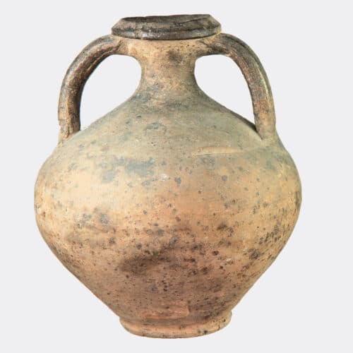 Roman Antiquities - Roman pottery vase with two handles