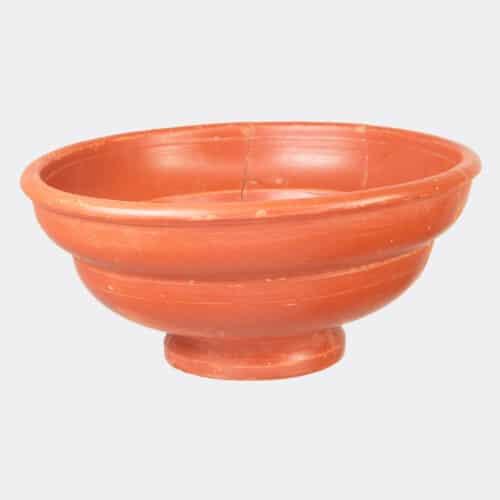 Roman Antiquities - Roman Samian ware cup with maker's mark